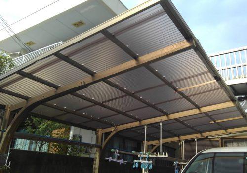 和歌山市 カーポート、屋根修繕